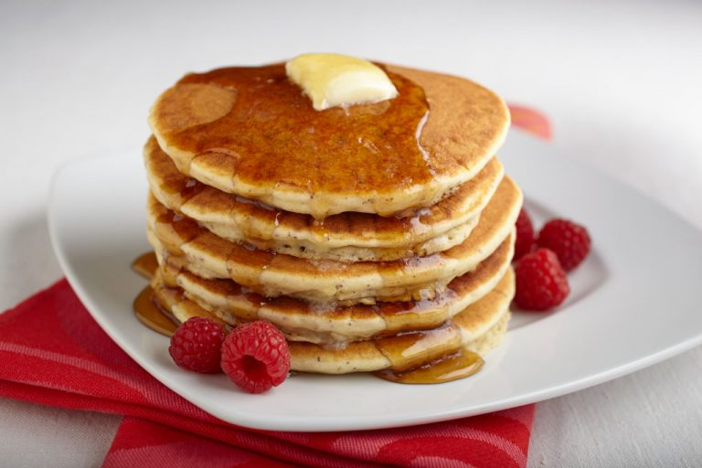 Pancakes from scratch with Vermont Maple Syrup